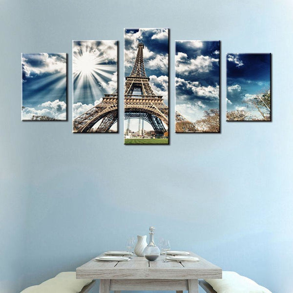 Up at the Eiffel tower - canvas wall art prints