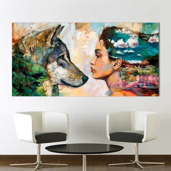 Wolf Woman - canvas wall art prints