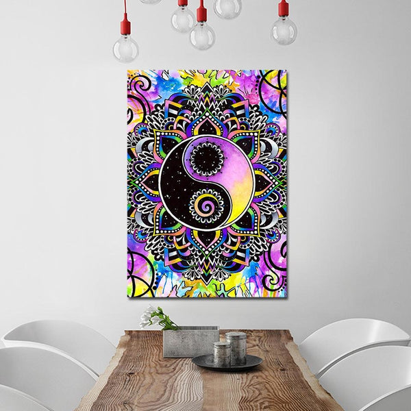 Yin And Yang - 14x20 / Pre-Framed - canvas wall art prints