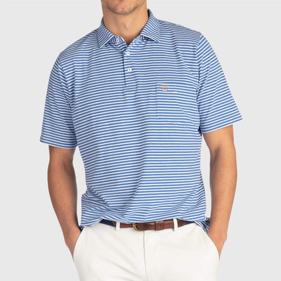 B.Draddy INDIGO/WHITE / XLG TOMMY POLO - SALE