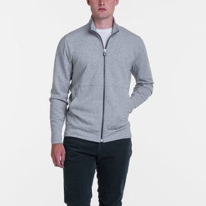 B.Draddy GREY HEATHER / SML RUSSEL FULL ZIP