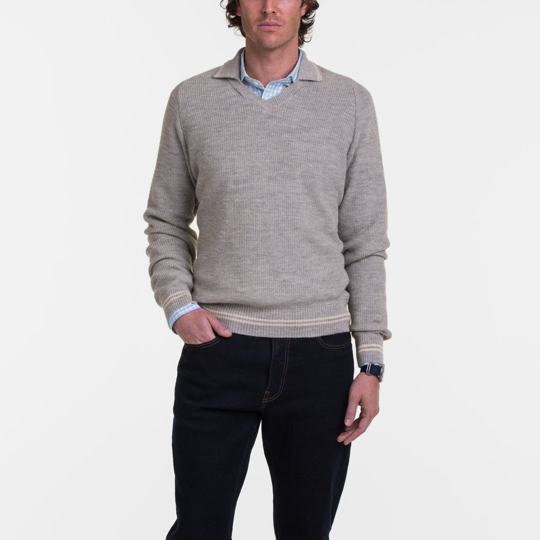 B.Draddy GREY HEATHER / SML ALPACA AUGUSTUS SWEATER