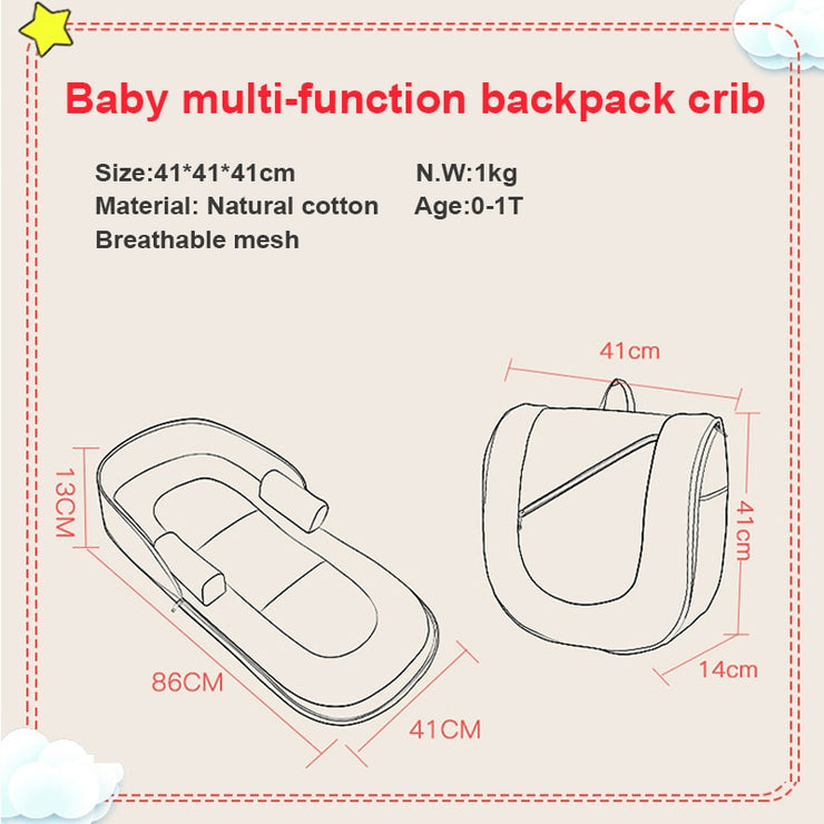 Nappy™ Portable Baby Bed Backpack