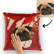 Pet Portrait Reversible Sequin Pillow & Insert