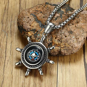 NavTrails™ Rudder Compass Necklace
