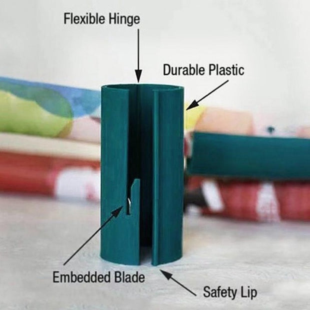 Sliding Wrapping Paper Cutter - Makes Cuts In Seconds