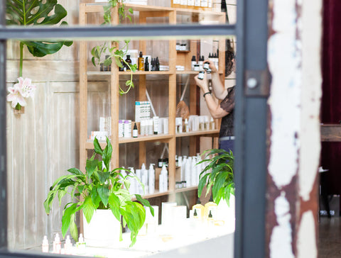 Biddy + May clean beauty store pop up in Ponsonby Central, Auckland, New Zealand.