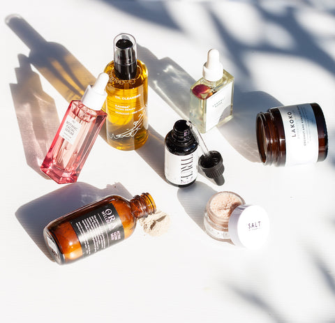A selection of clean, cruelty-free and vegan skincare.