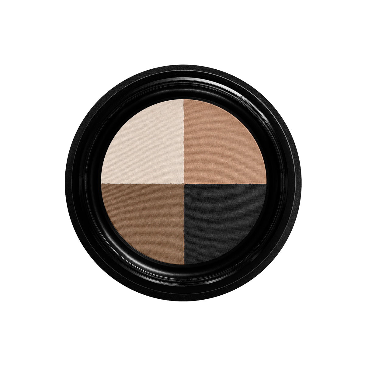 Manasi7 Eye shadow quad of four natural, earthy toned colours. Use on eyes and brows.