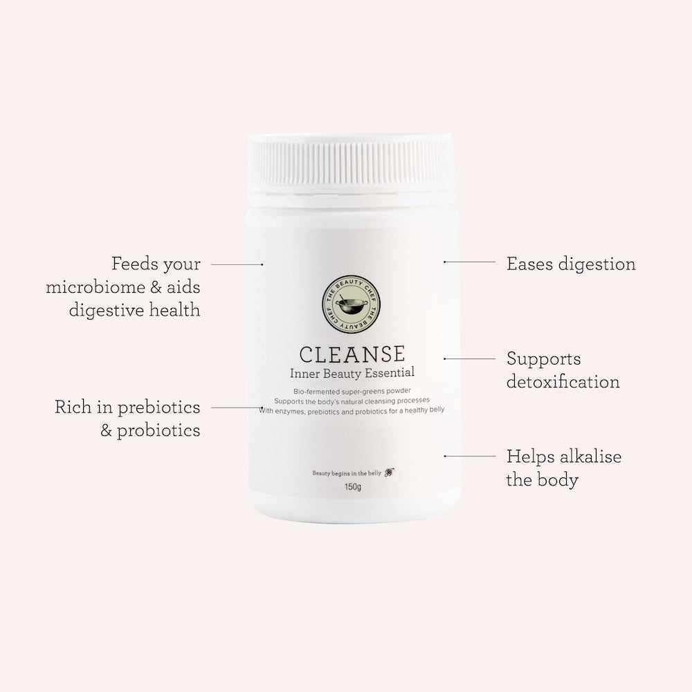 The Beauty Chef Cleanse product benefits map