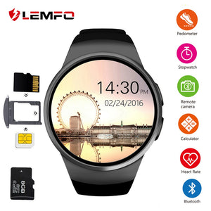 KW18 Smart Watch Men and Women Support SIM TF Card Bluetooth Call Heart Rate Pedometer Sport Waterproof Smartwatch For Android IOS