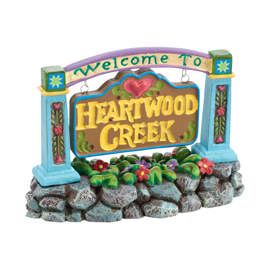 Welcome To Heartwd Creek Sign