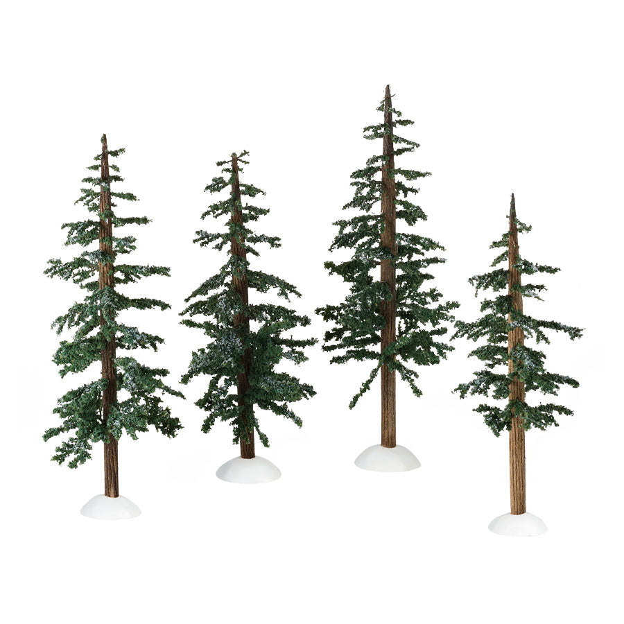Winter Lodge Pines, Set of 4
