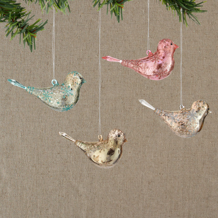 Glass Bird Ornament