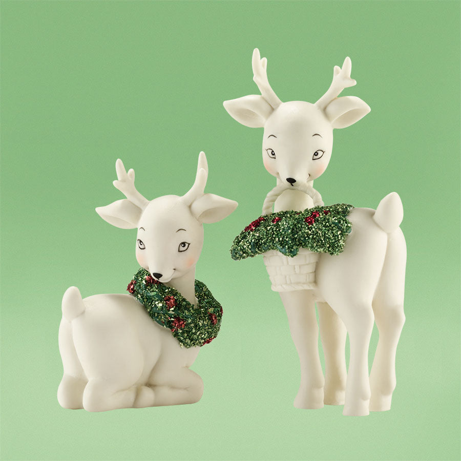 Holly Deer, Set of 2