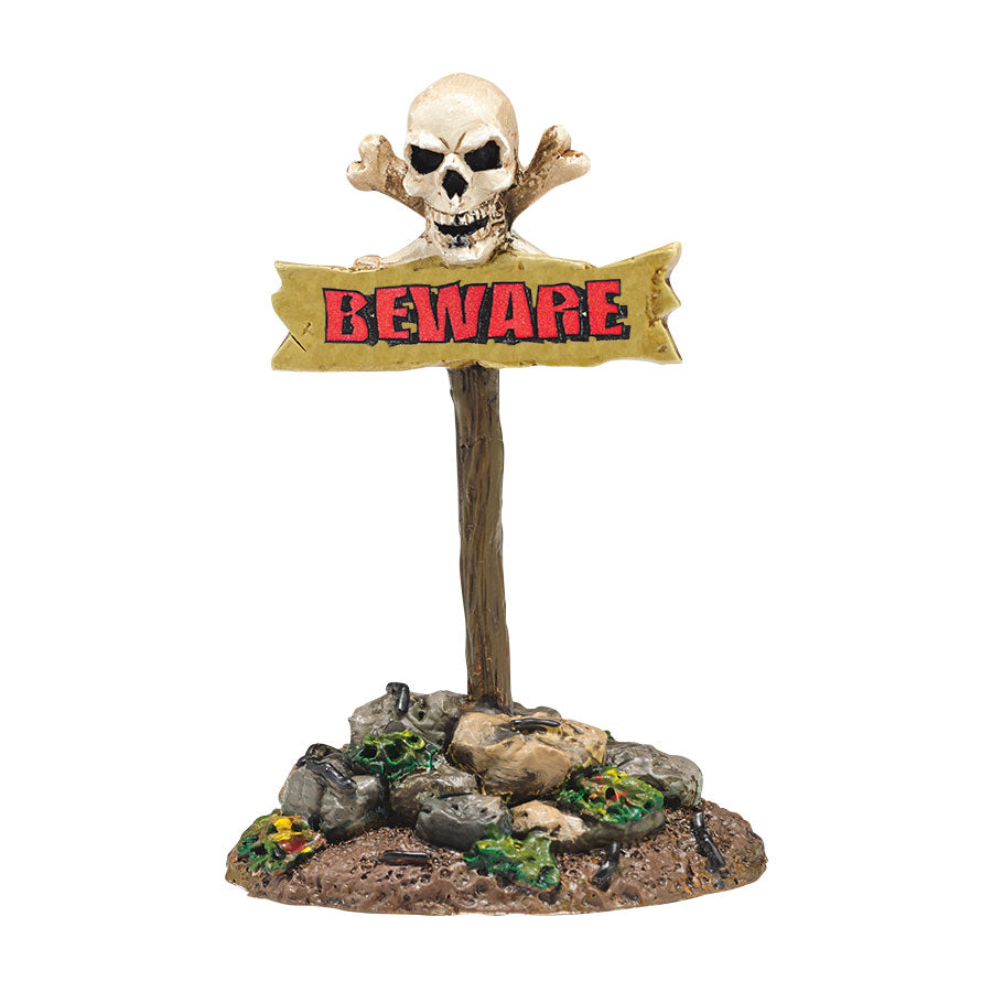 Beware The Boneyard, Sign