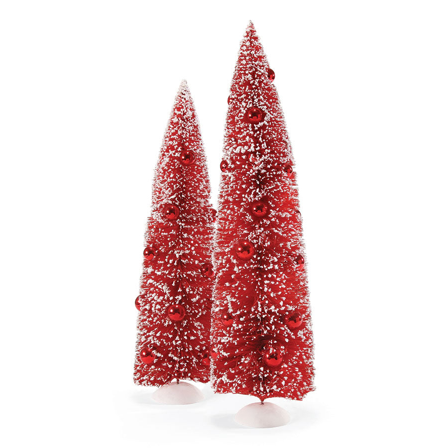 TREES RED TREES SET OF 2