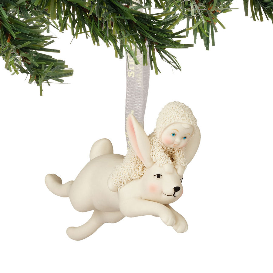 Jumping On A Rabbit Ornament