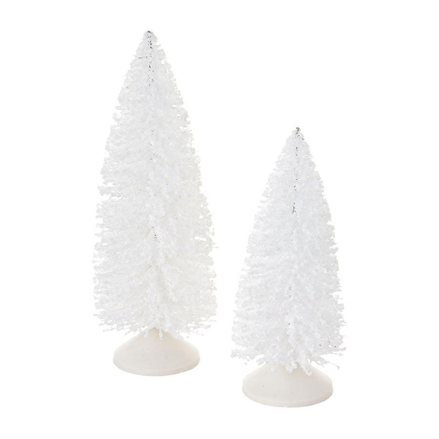 Snowy White Sisals, Set of 2