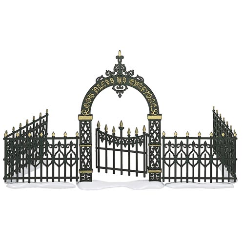 Victorian Wrought Iron Fence W