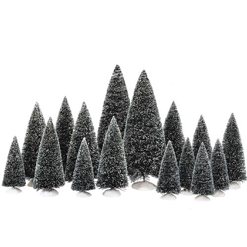 Village Frosted Topiaries