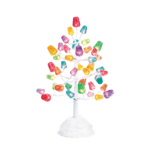 Gumdrop Tree W/LED Lights 9 In