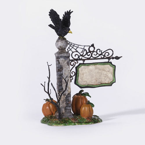Spooky Village Sign