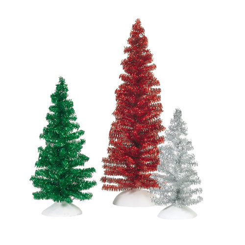 Classic Tinsel Trees - Red, Gr