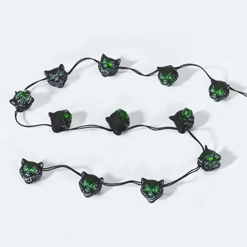 String Of 12 Black Cat Lights