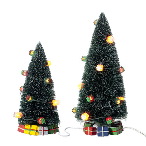 Lighted Christmas Gift Trees,