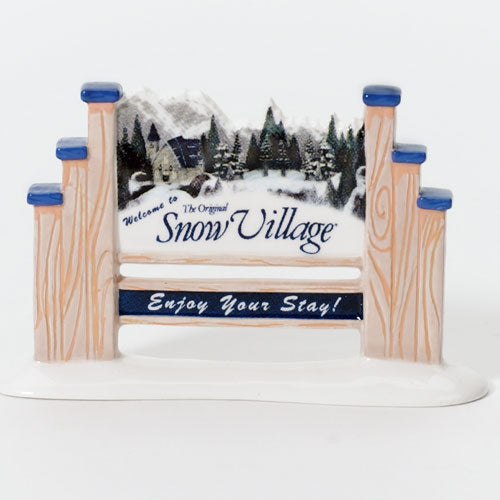 Welcome To Snow Village Popula