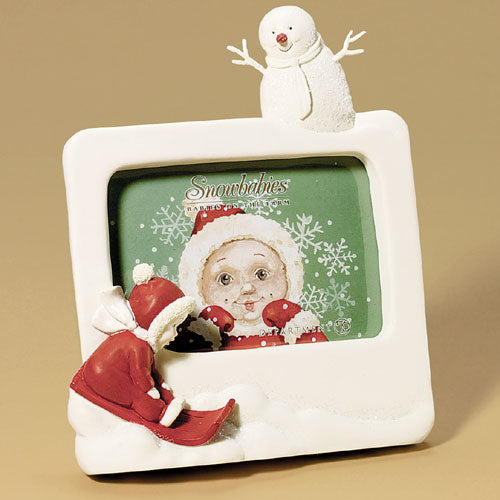 Baby Sledding Picture Frame
