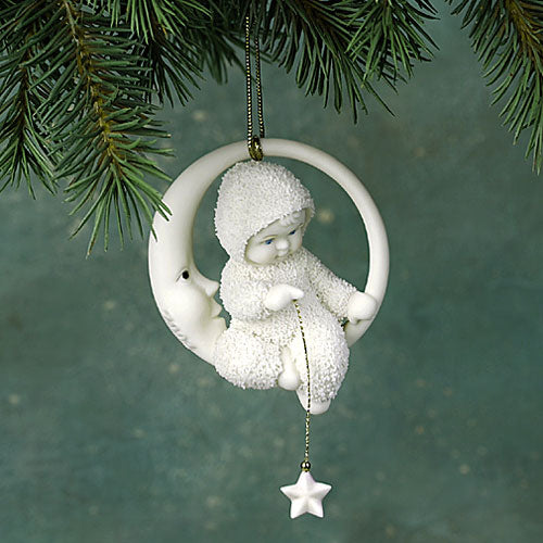 Baby In The Moon Ornament