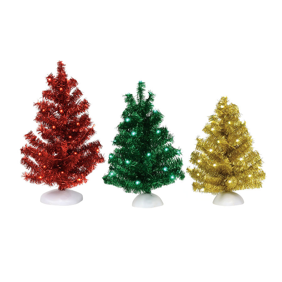 Magical Tinsel Trees, Set of 3