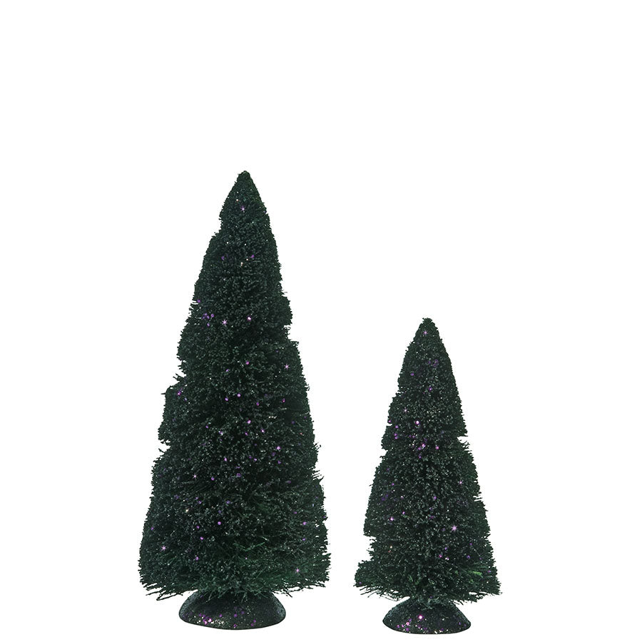 Purple Glitter Sisal Trees