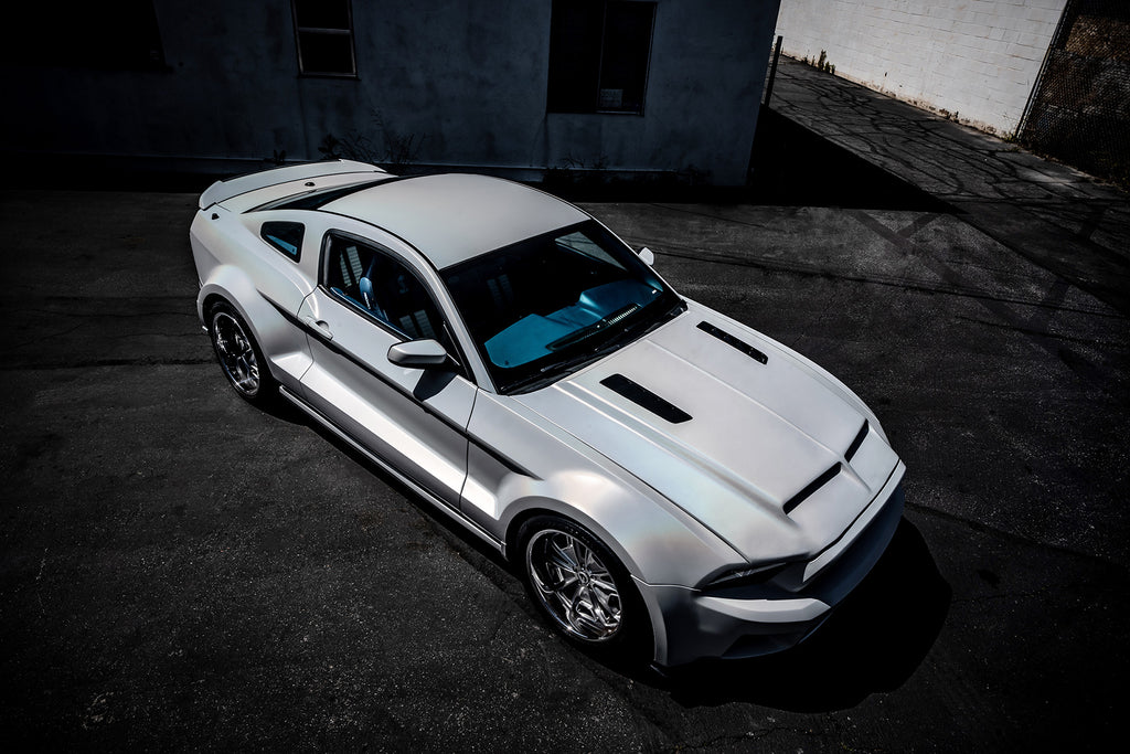Chris brown Ford Mustang GT500 Wrapped in Ghost Flip Pearl from Avery Dennison. Fully Wrapped in Los Angeles by Next Level Wraps.