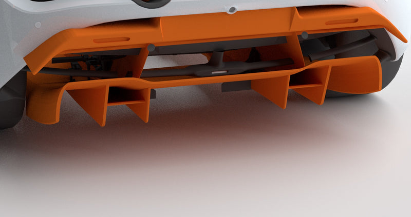 1016 Industries – McLaren 720s Rear Diffuser