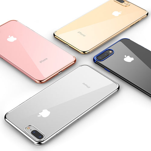 Luxury Ultra Thin Soft Silicone Case for iPhone 8, 8Plus, 7, 6, 6S