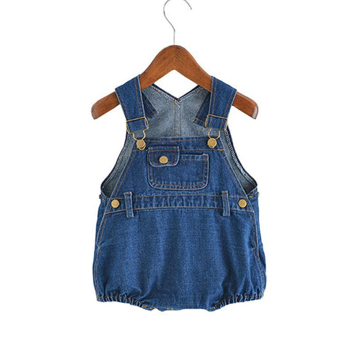 Baby Bodysuits Boys/Girls Denim One-piece Infant Jumpsuit