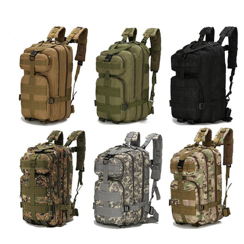 Nylon Waterproof Tactical Backpack for Camping, Hiking, Fishing, Hunting