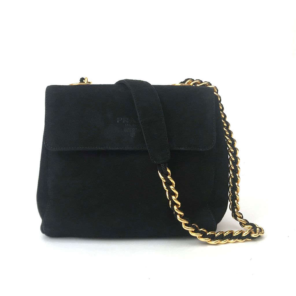 Prada Shoulder Bag Suede