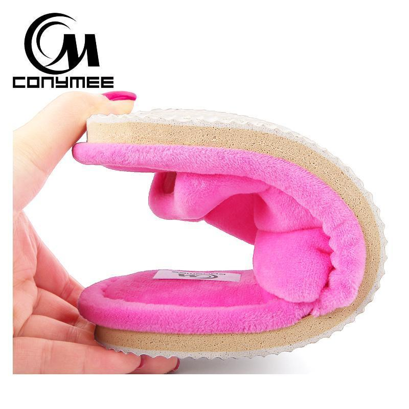 Conymee Rose Red Pink Fur Slippers Home Slippers For Women