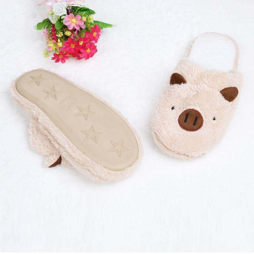 MUQGEW Pig Cute Oink Brown Piggy Slippers For Women