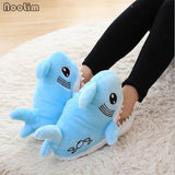 NooLim Baby Shark Slippers Blue Comfy Shark Shape For Women