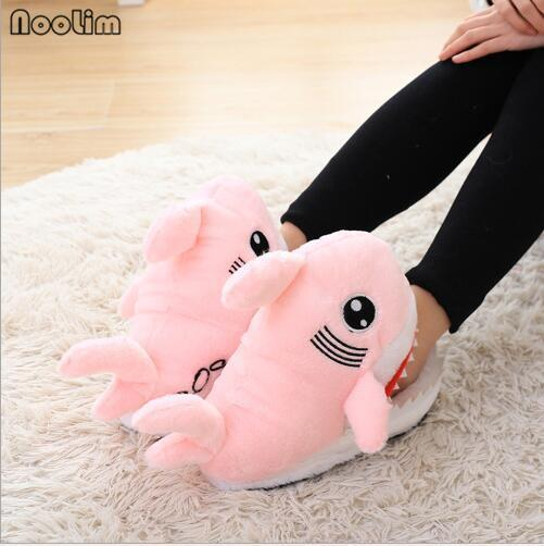 NooLim Baby Shark Slippers Pink Comfy Shark Shape For Women