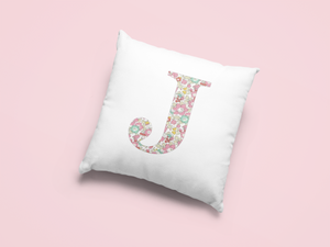 Liberty Of London, Betsy Anne Light Pink, personalised Cushion Cover