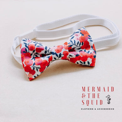 Liberty of London, Wiltshire berry red, bow tie