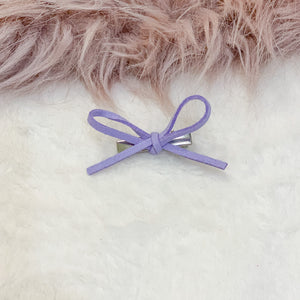 Lavender, hand tied petite, hair bow