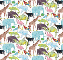 Load image into Gallery viewer, Liberty of London, Queue for the zoo - personalised liberty appliqué - Junior