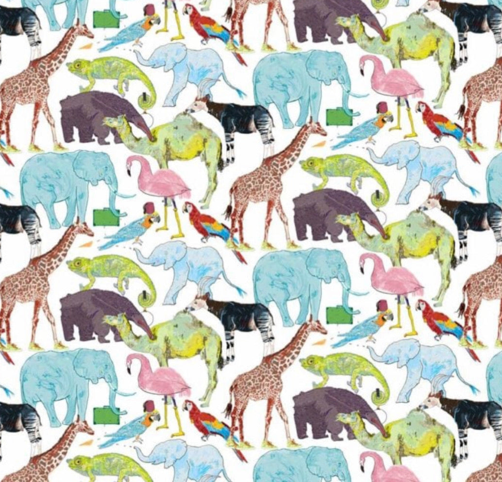 Liberty of London, Queue for the zoo - personalised liberty appliqué - Junior